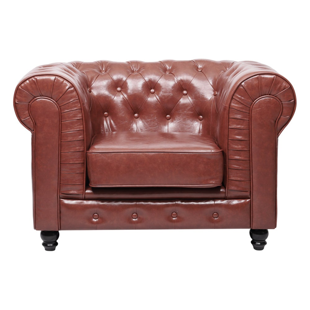 Maroon Chesterfield Sofa Chair