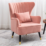 Occasion Velvet Wingback Armchair With Cushion