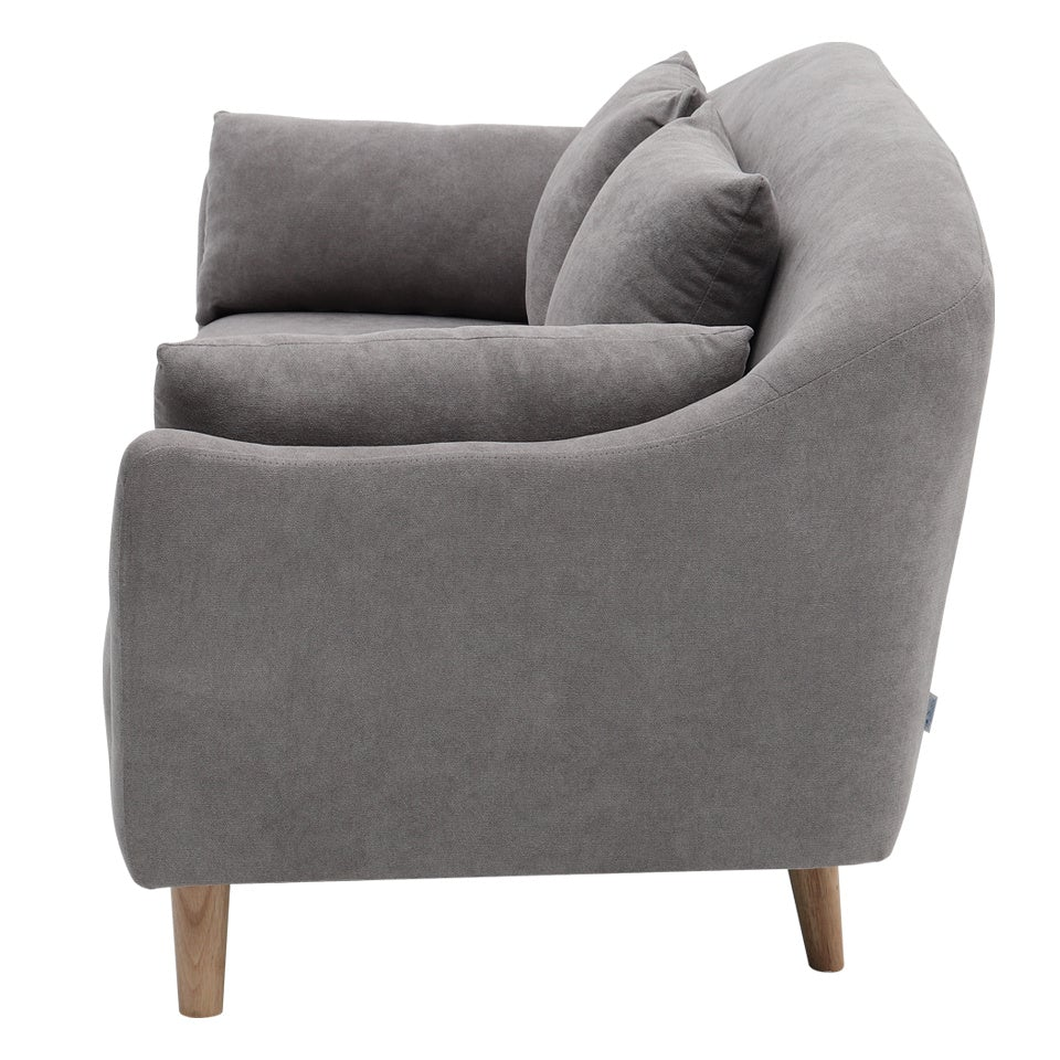 Grey Leisure 2 Seater Sofa With Cushion