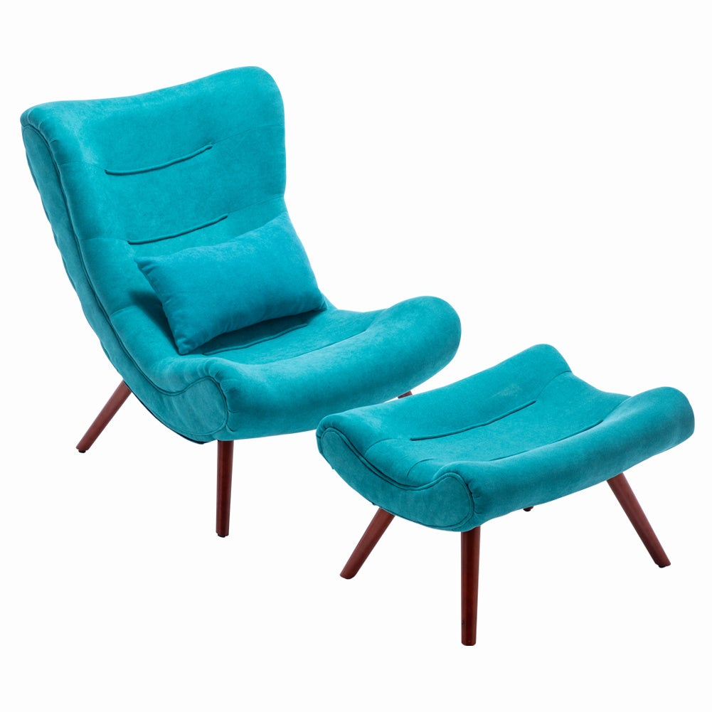 Lounge Chair And Footstool