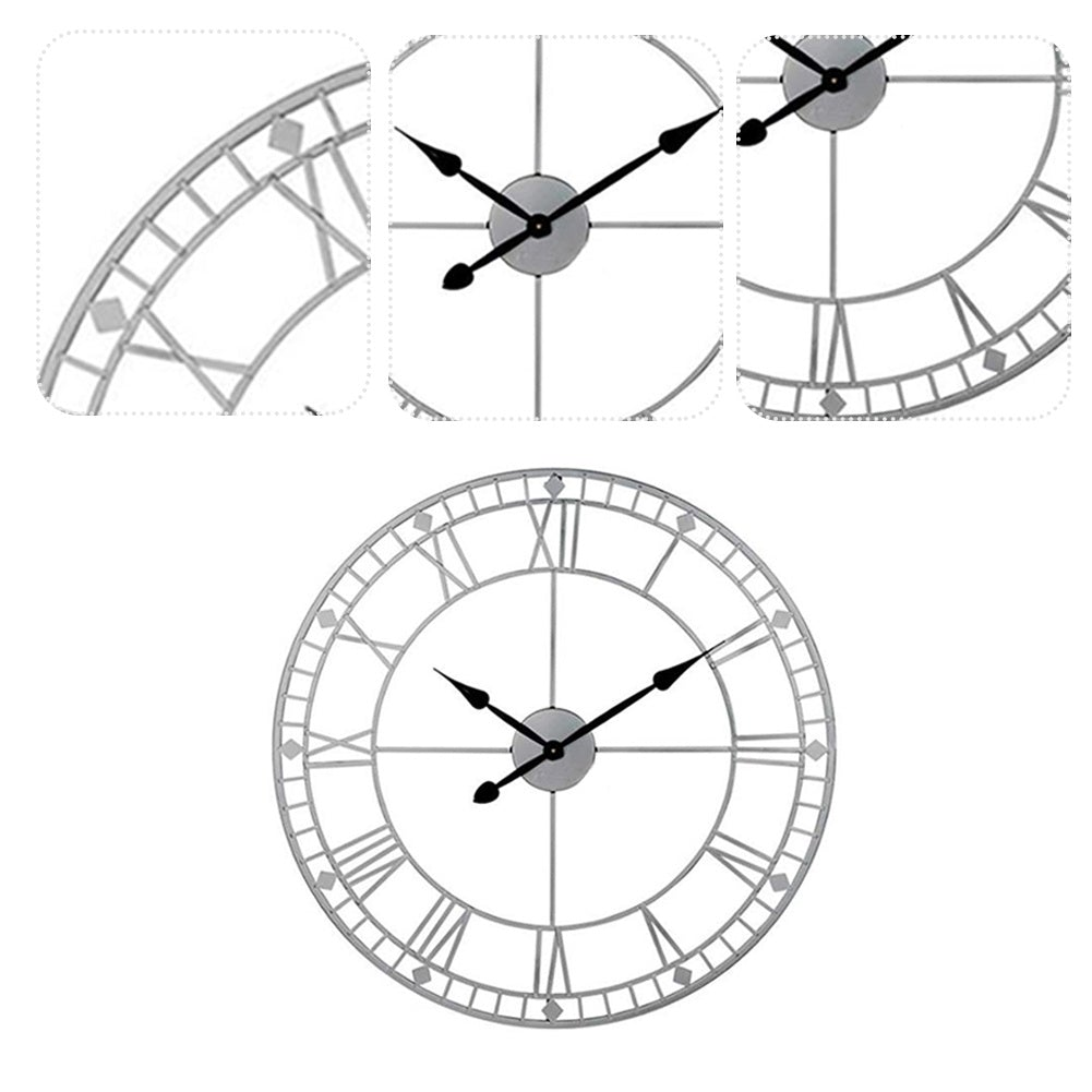 40CM Roman Numeral Skeleton Wall Clock