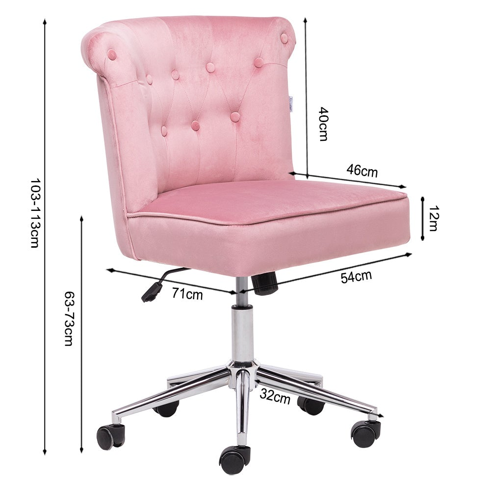 Frosted Velvet Adjustable Office Chair