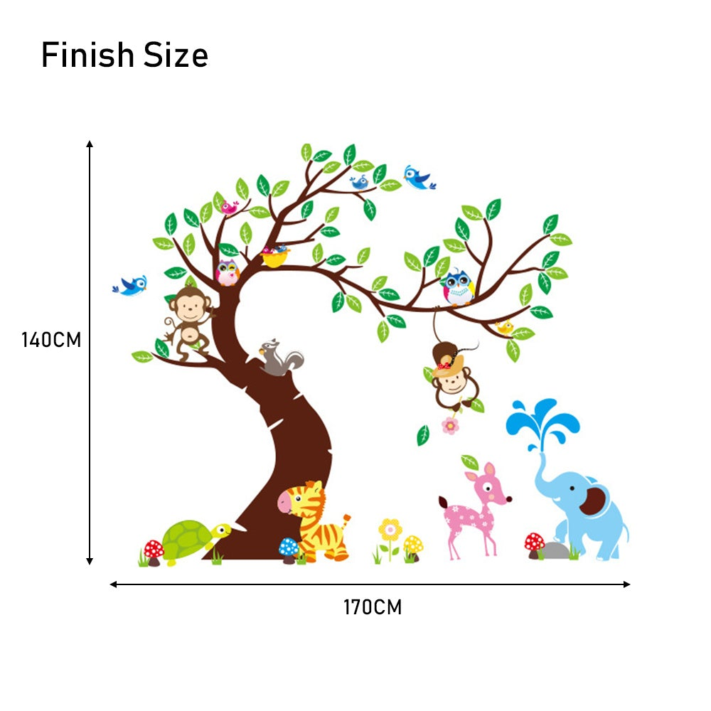 Cartoon Animal Wall Sticker Decal Home Decor