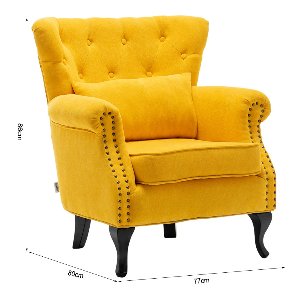 Chesterfield Tub Chair Armchair With Cushion