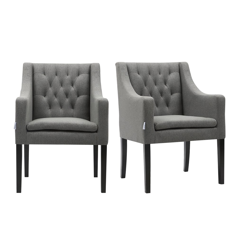 Set of 2 Leisure Armchair Dining Chairs