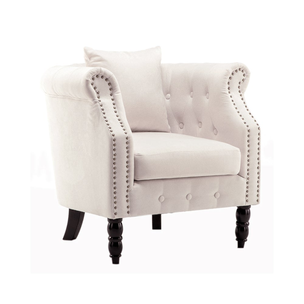 Linen Tub Chair With Cushion
