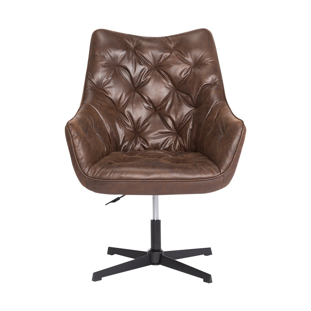 Bronzing Leather Liftable Leisure Chair Office Armchair