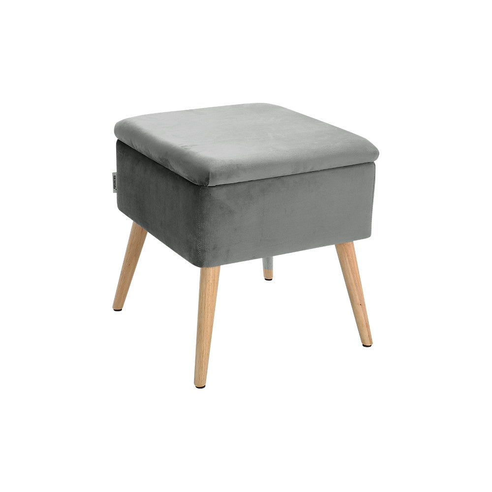 Square storage stool
