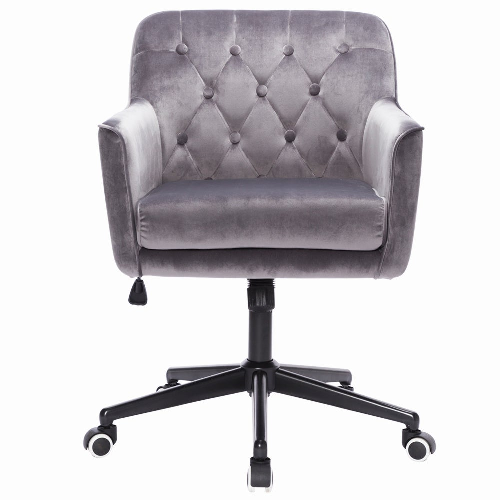 Buttoned Adjustable Swivel Office Chair