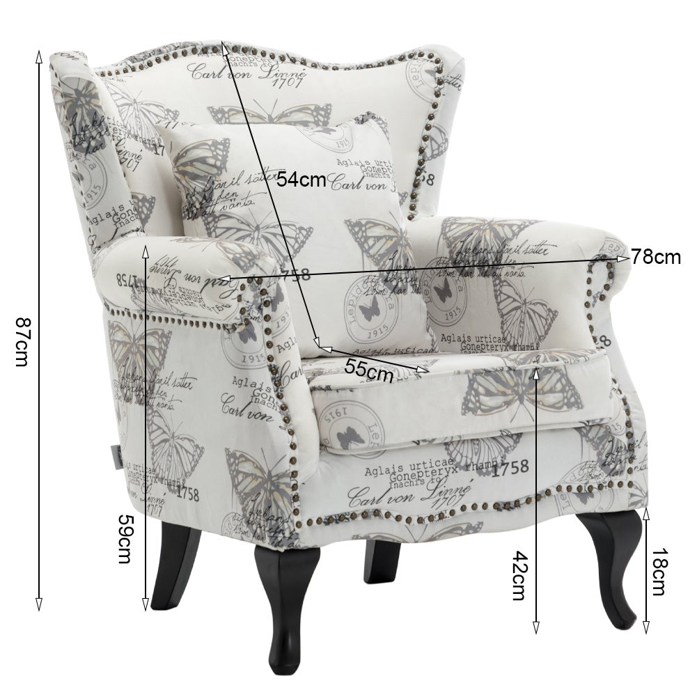Butterfly Wingback Armchair