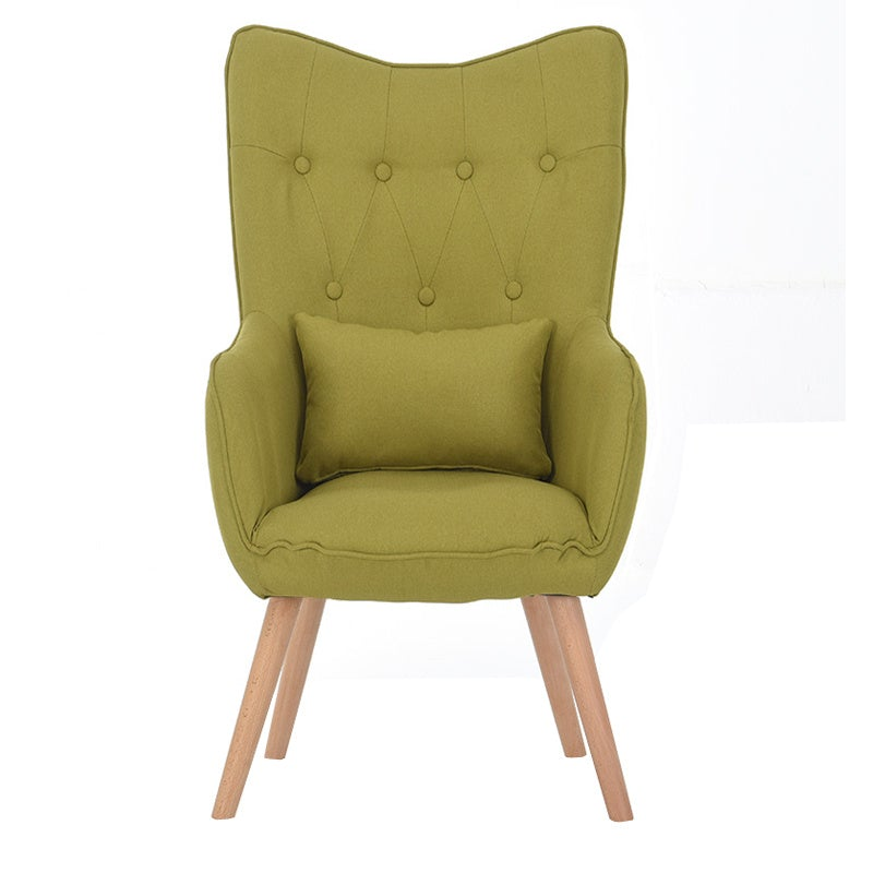 Accent Wingback Lounge Chair With Cushion