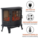 30 Inch Electric Stove Heater Fire Log Burner Fireplace