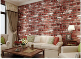 3D Effect Red Brick Wallpaper
