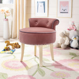 Buttoned Velvet Dressing Table Stool