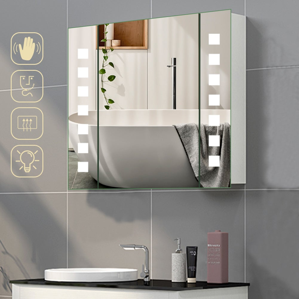 LED Illuminated Bathroom Mirror Cabinet