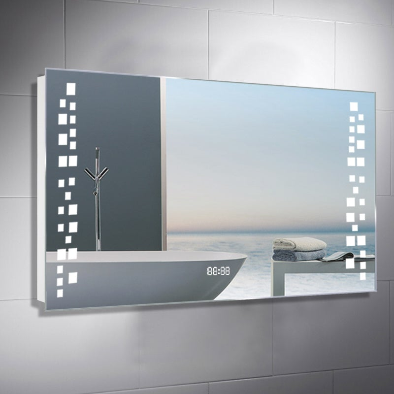 Rectangle Gypsophila LED Illuminated Bathroom Mirror