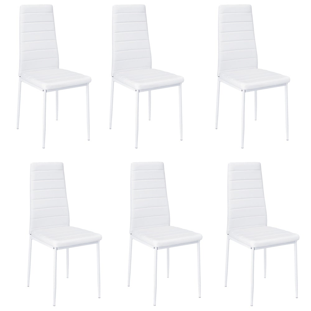 Set of 6 Ladder Dining Chairs