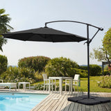 3M Black Sun Parasol Hanging Banana Umbrella