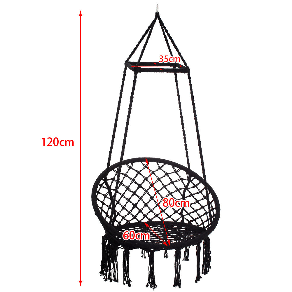 Macrame Hammock Swing Chair with Top Frame