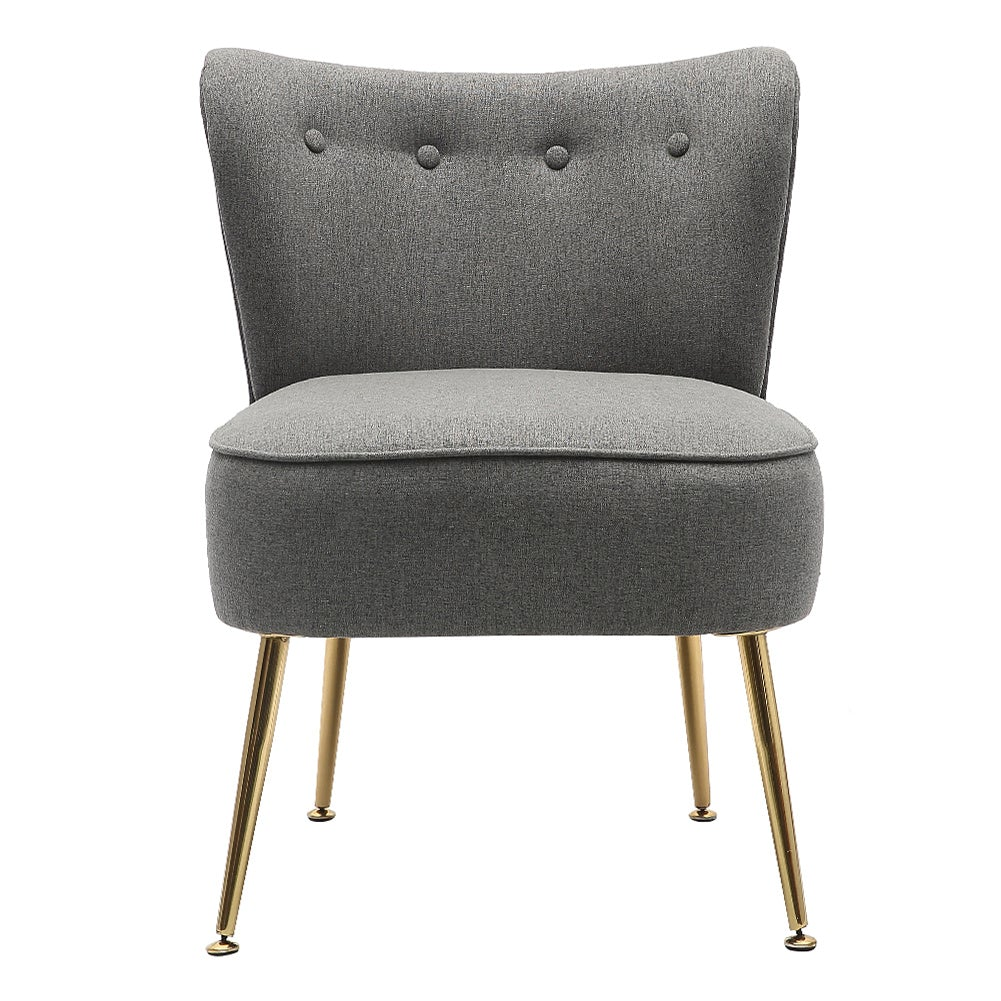Small Buttoned Cocktail Accent Chair