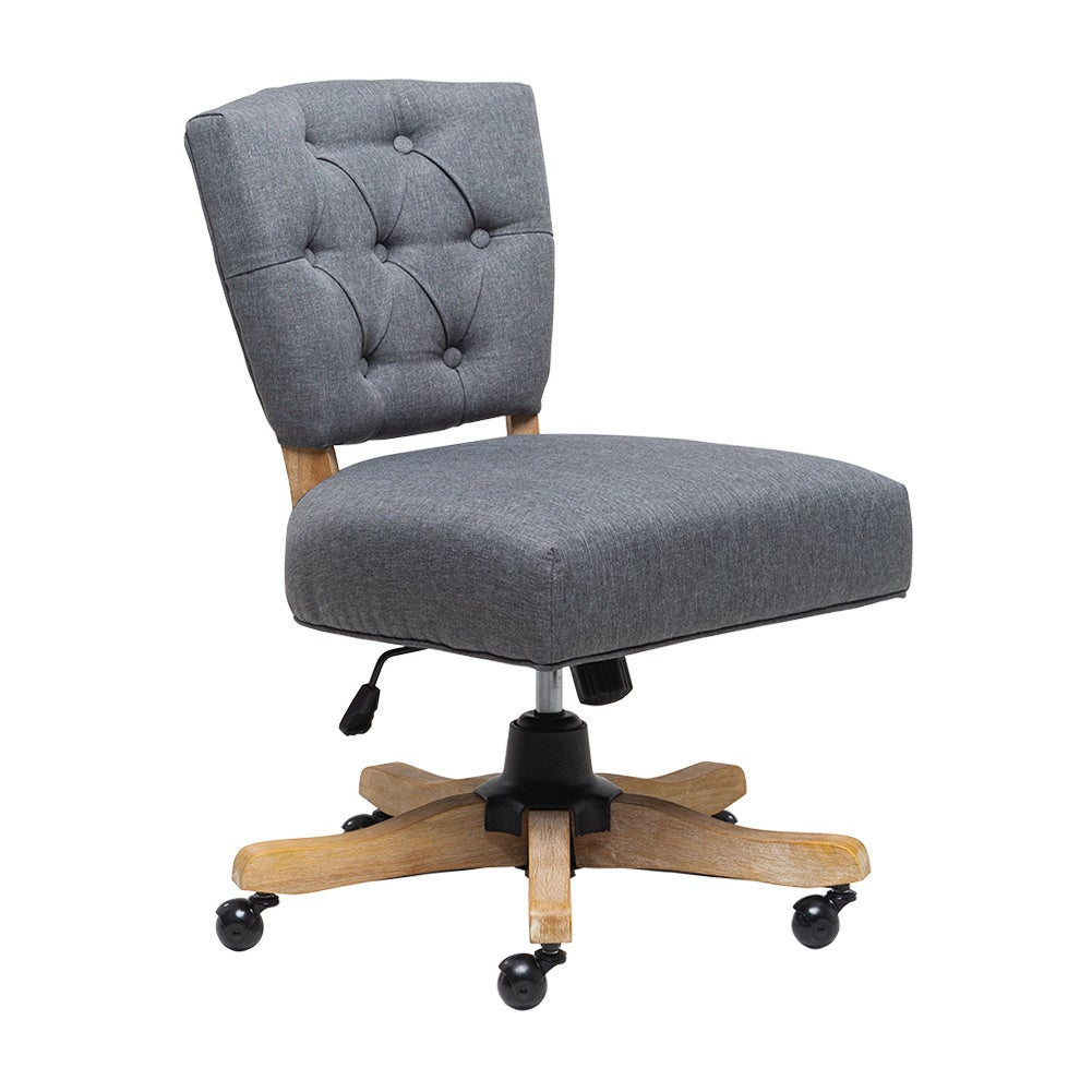 Linen Adjustable Swivel Office Chair