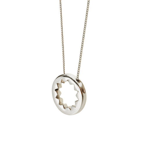 Eternity Necklace in Sterling Silver