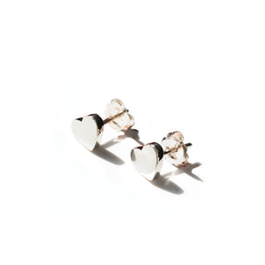Little Hearts of Sterling Silver Earrings