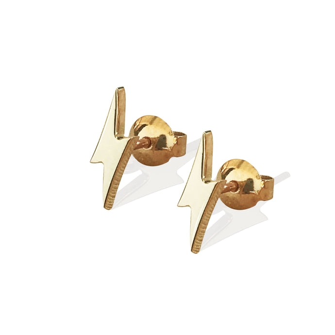 Lightning Studs | Solid Gold
