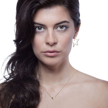 Load image into Gallery viewer, Little Heart of Gold Necklace Model