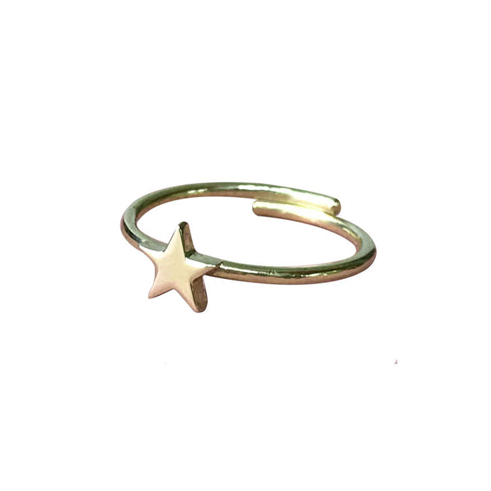 Star Toe Ring | Solid Gold
