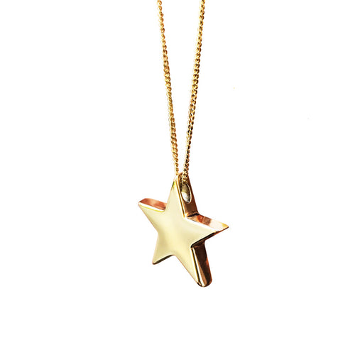 Stella Star Necklace in Solid Gold