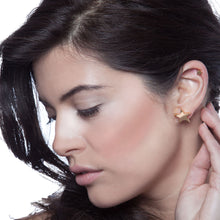 Load image into Gallery viewer, Stella Star Earrings Solid Gold Model