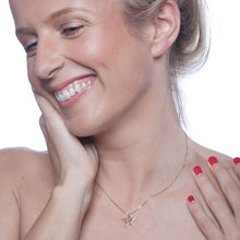 Load image into Gallery viewer, Stella Star Necklace in Solid Gold Model