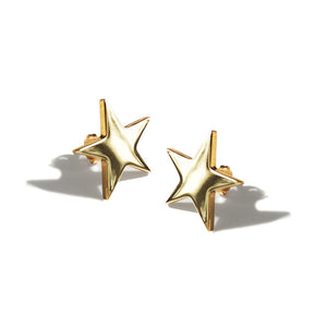 Stella Star Earrings Solid Gold