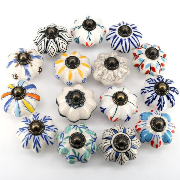 Euro Pumpkin Ceramic Knobs