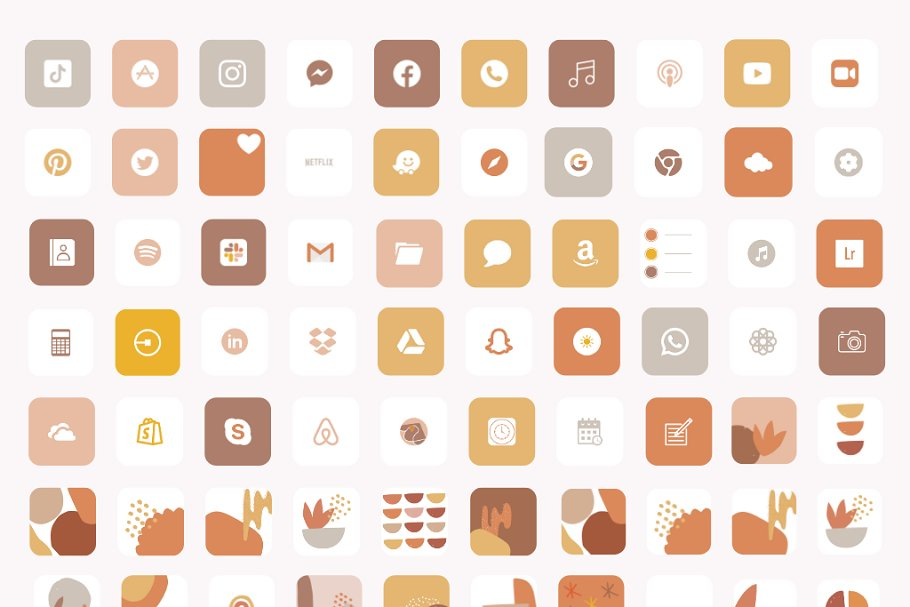 Bold Autumn - iOS 14 Icons