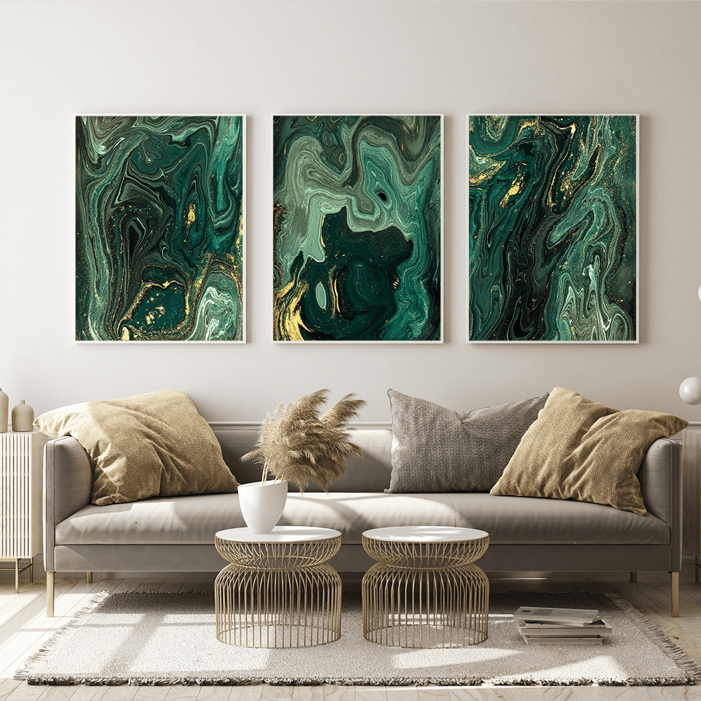 Emerald Marble Prints