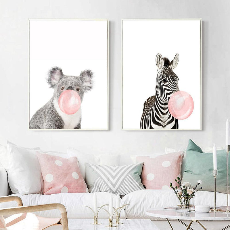 Pink Bubble Gum Pop Print Collection