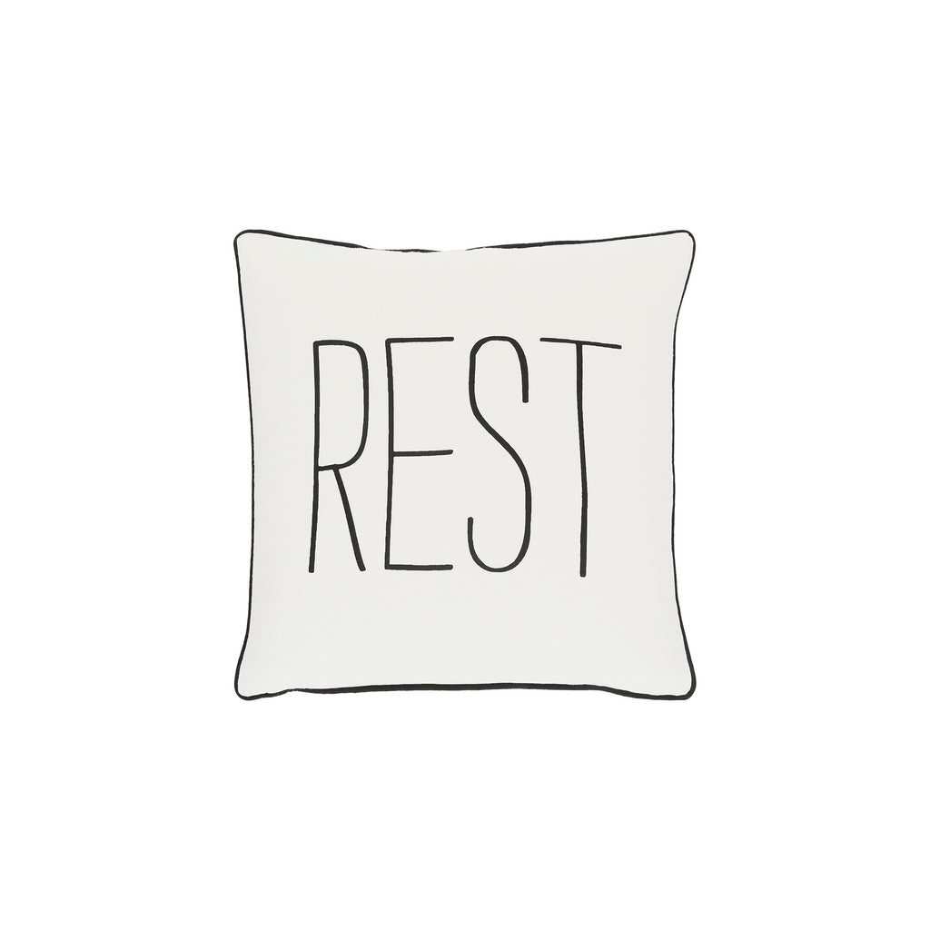 Rest Quote Pillow