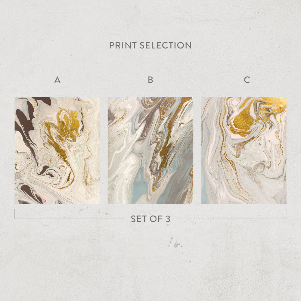 Liquid Gold Print Collection
