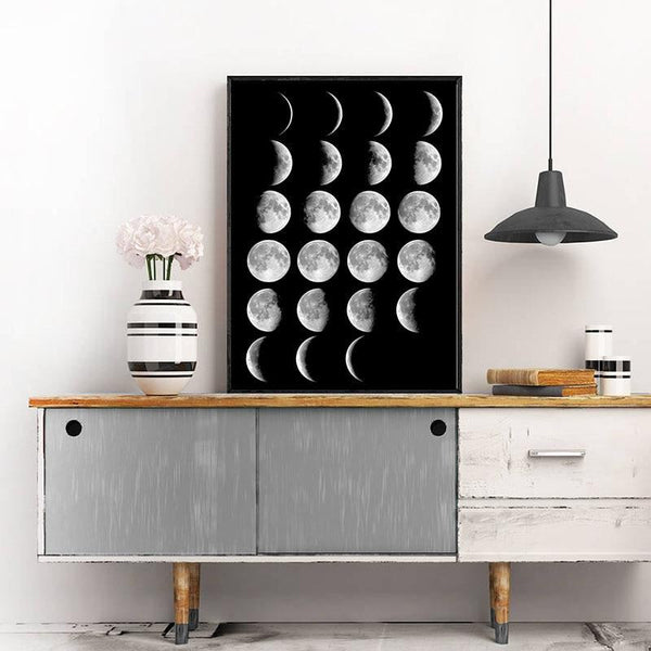Moon Phase Canvas Prints