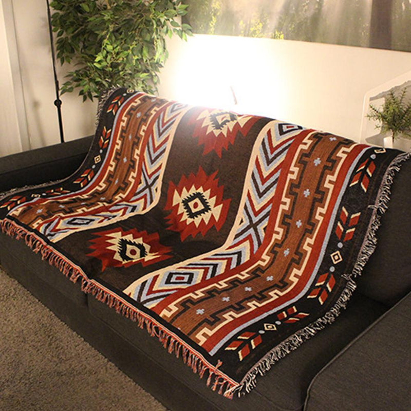 National Style Geometry Throw Blanket