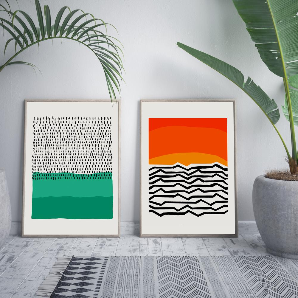 Nordic Abstract Print Collection