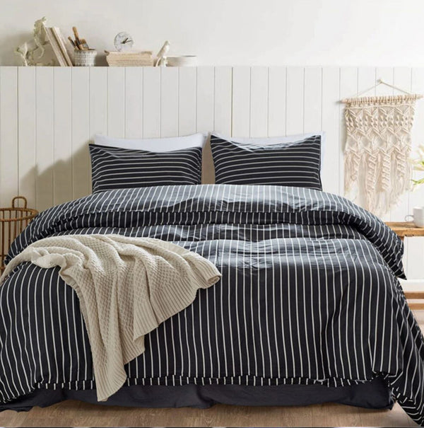 Runway Striped Bedding Set