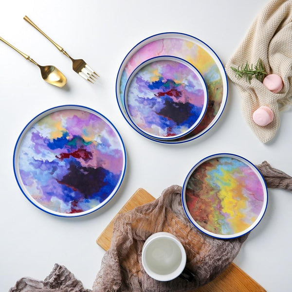 Watercolor Canvas Plate