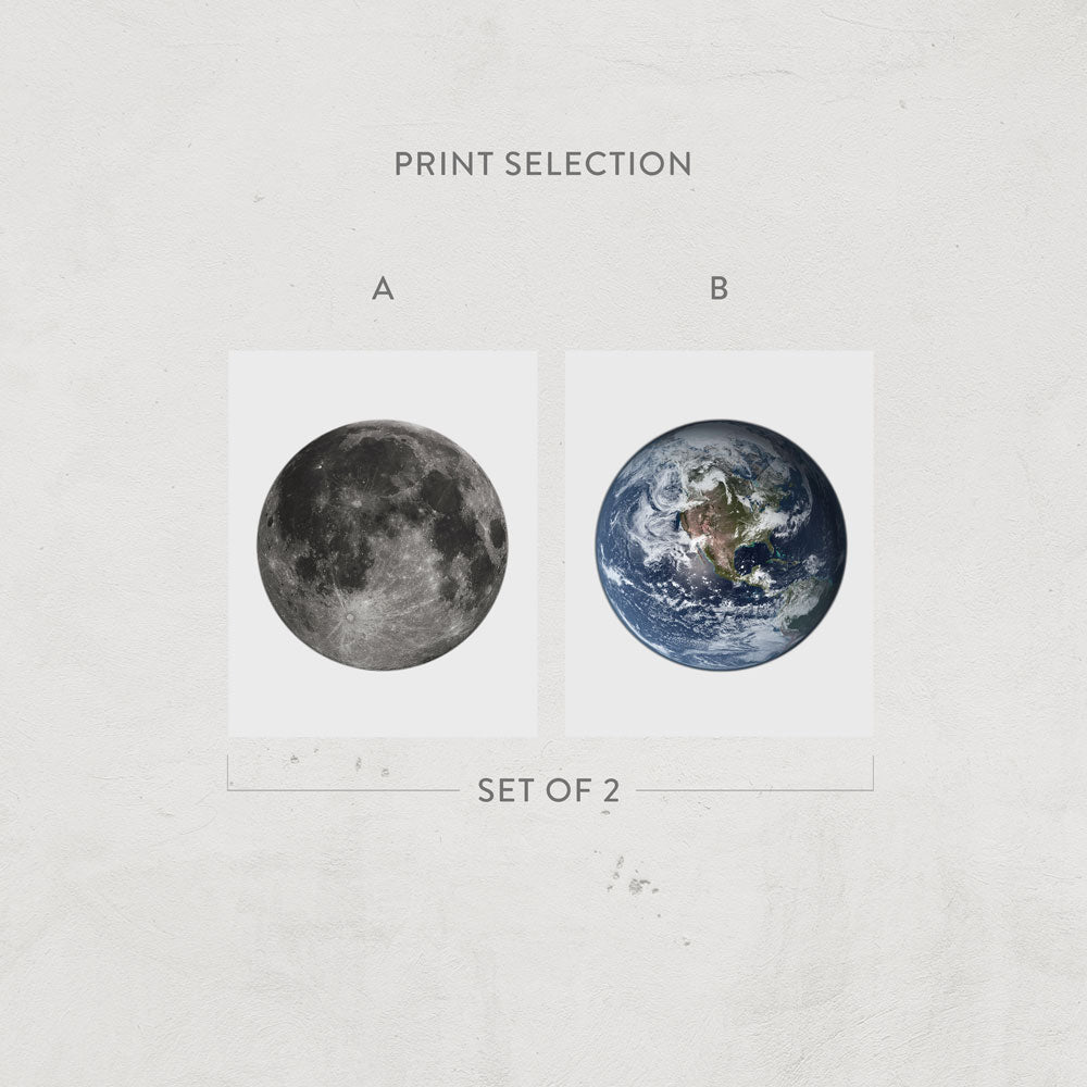 Earth & Moon Prints
