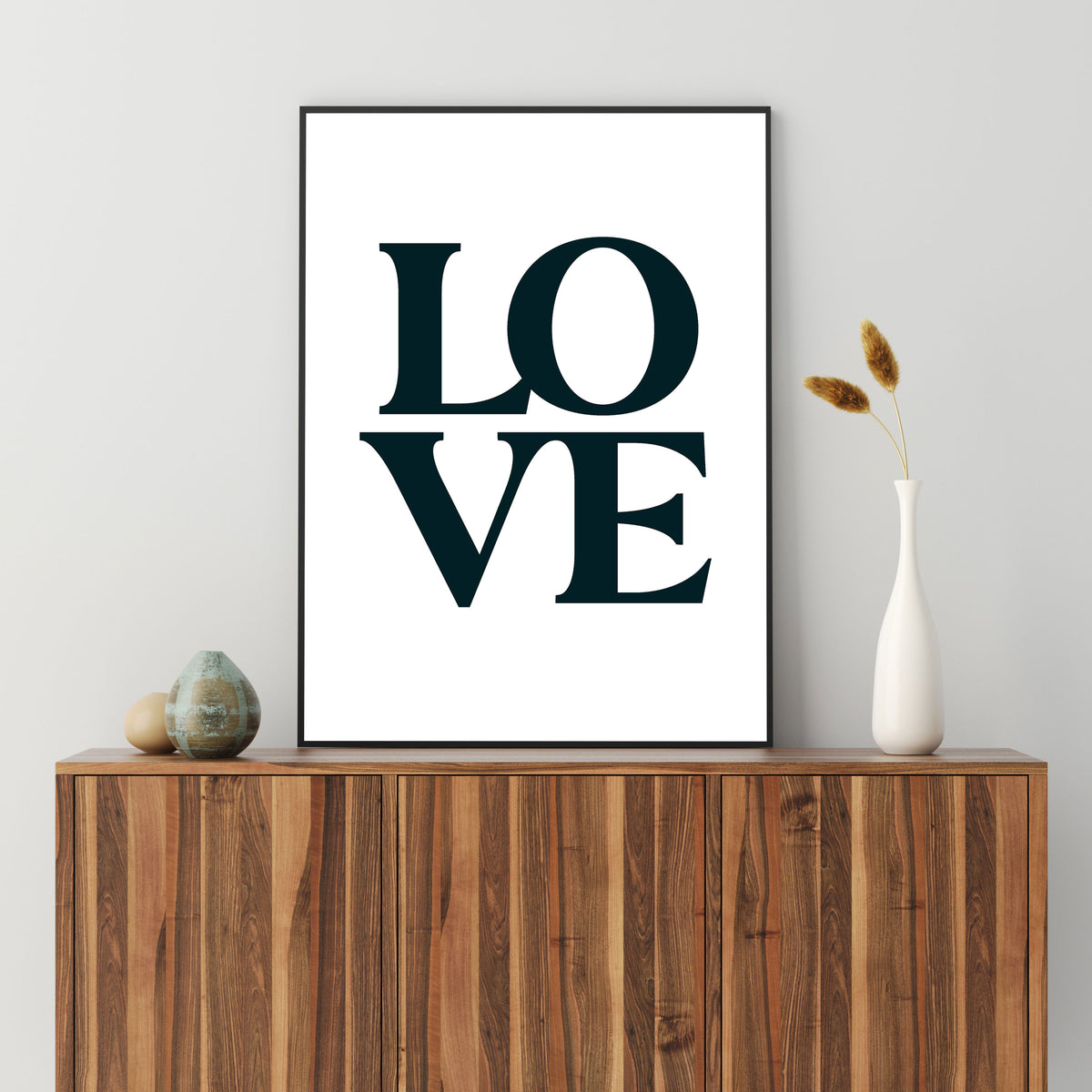 Iconic Stacked Love Type Print
