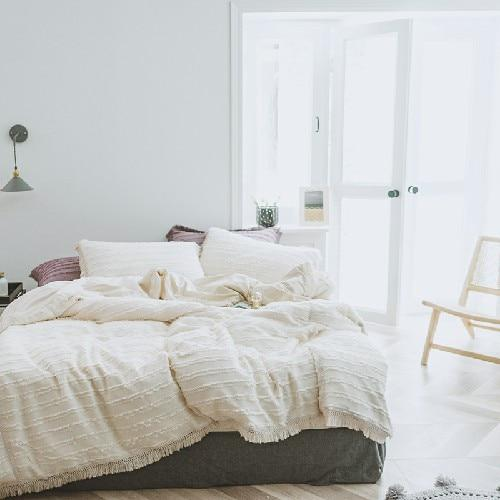 Tufted and Tassel Boho Bedding