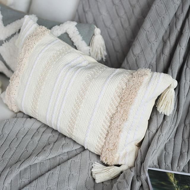 Moroccan Tufted Tassel Cushion Cover