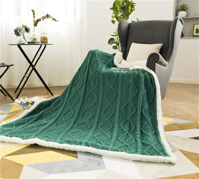 Chenille Lambs Throw Blanket